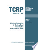 Effective Approaches to Meeting Rural Intercity Bus Transportation Needs