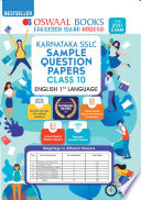 Oswaal Karnataka SSLC Sample Question Papers Class 10 English Ist Language Book  For 2021 Exam