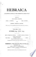 The American Journal of Semitic Languages and Literatures Book