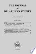 The Journal Of Belarusian Studies 2018