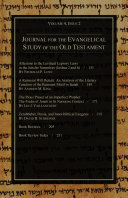 Journal for the Evangelical Study of the Old Testament  4 2