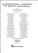 Giurisprudenza annotata di diritto industriale. Anno 38° (2009)