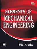 Elements of MECHANICAL ENGINEERING Pdf/ePub eBook