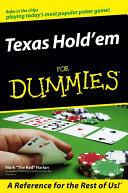 Texas Hold'em For Dummies Pdf/ePub eBook
