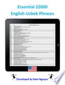 Essential 22000 Phrases In English-Uzbek