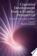 Cognitive Development from a Strategy Perspective Book