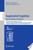 Augmented Cognition  Human Cognition and Behavior