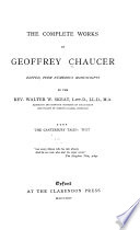 The Complete Works of Geoffrey Chaucer  The Canterbury tales  text