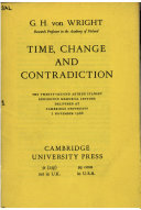 Time, Change and Contradiction