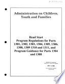 Head Start program performance standards and other regulations