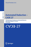 Automated Deduction     CADE 27
