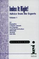 Index it Right!: Art ; Biographies ; Computer manuals ; Encyclopedias ; Gardening