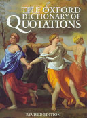 Cover of The Oxford Dictionary of Quotations