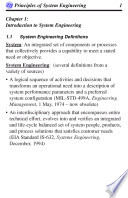 Principles of System/Project Engineering
