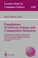 Foundation of Software Science and Computation Structures