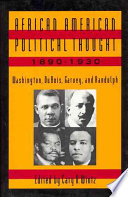 African American Political Thought  1890 1930 Book