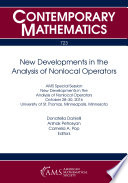 New Developments in the Analysis of Nonlocal Operators Book