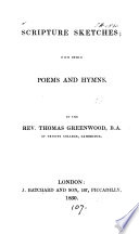 Scripture sketches, with other poems and hymns