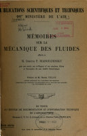 Mémoires sur la mécanique des fluides