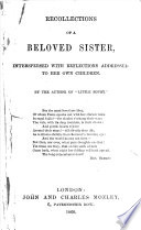 Recollections of a Beloved Sister