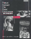 Public Report on Basic Education in India Book