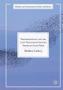Phenomenology and the Late Twentieth Century American Long Poem