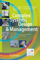 Complex Systems Design & Management: Proceedings of the Fourth ...