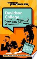 Davidson College College Prowler Off the Record Book PDF