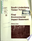 Tongass National Forest  N F    Stikine Area  South Lindenberg Timber Sale s  Book