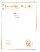 Louisiana Register