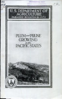 Plum and prune growing in the Pacific states