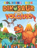Dinosaur And Volcano Coloring Book