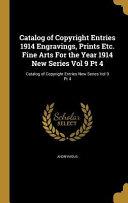 Catalog Of Copyright Entries 1