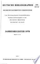 Deutsche Bibliographie. Hochschulschriften-Verzeichnis