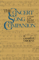 The Concert Song Companion ebook