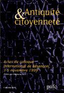 Antiquité et citoyenneté