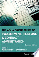 The Aqua Group Guide to Procurement  Tendering and Contract Administration