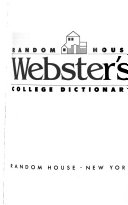 Random House Webster s College Dictionary Book