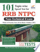 101 Topic wise Speed Tests for RRB NTPC Non Technical Exam with 14 Practice Sets  10 in book   4 Online CBT  2nd Edition Book PDF