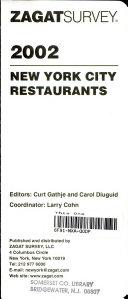 Zagatsurvey 2002 New York City Restaurants
