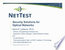 Security Solutions for Optical Networks