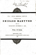 First Annual Memorial Services in Honor of the Chicago Martyrs