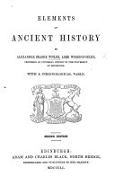 Elements of Ancient History     With a chronological table  Second edition