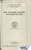 Iron and steel industry and trade of India ...