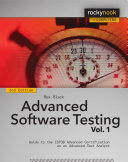 Advanced Software Testing – Vol.1, 2nd Edition