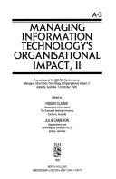 Managing Information Technology S Organisational Impact Ii