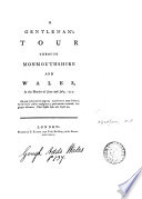 A Gentleman S Tour Through Monmouthshire And Wales In The Months Of June And July 1774 On Large Paper Interleaved