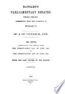 The Parliamentary Debates (Authorized Edition).