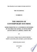 The Origins of Contemporary Doctrine