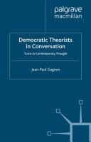 Pdf Democratic Theorists in Conversation